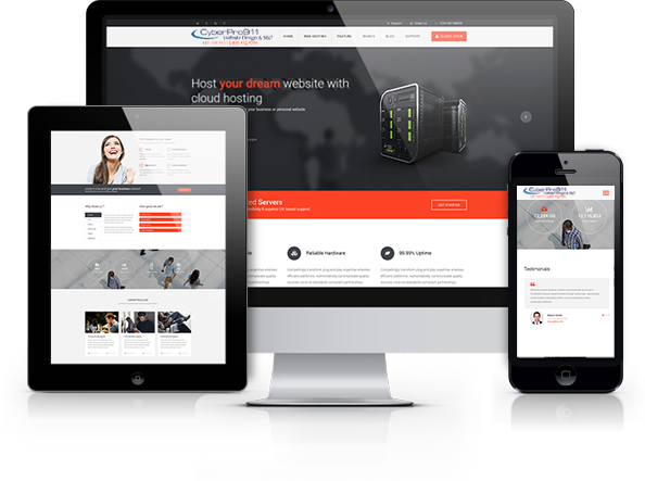 CyberPro911 designs websites to display in mobile phones, tablets and desktop displays