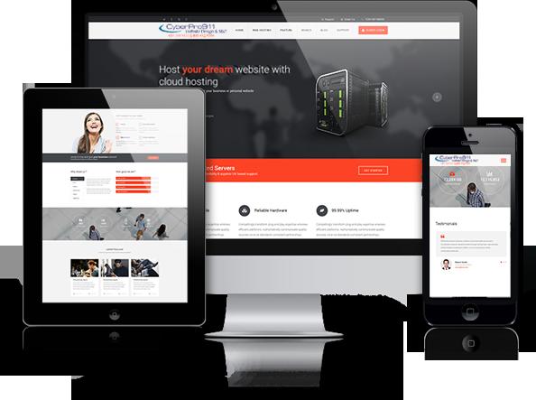 CyberPro911 designs websites to display in mobile phones, tablets and desktop displays