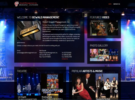 CyberPro911 Client Project Profile - Gewald Management Entertainment, New York, NY